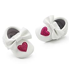 3350c12a91114 Fantynes Kids Baby Shoes Newborn Infant Baby Girl Bowknot Love Shape Soft  Sole Anti-slip