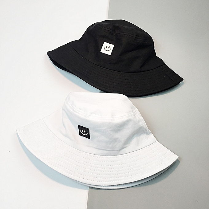 b709b920543 Fashion Bucket Hat Smiling Face Unisex Fashion Bob Cap Hip Hop Gorro Men  Summer Caps Beach