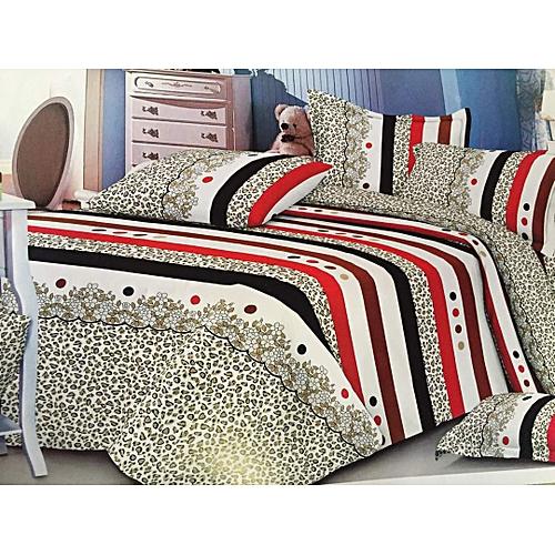 Duvet + Bedspread/Bedsheet With Pillow Cases (Animal Skin)