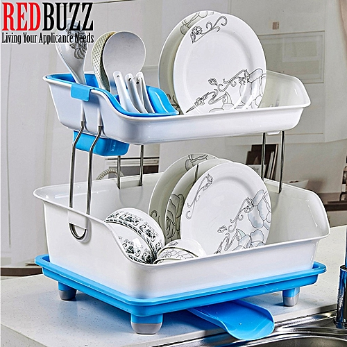 Durable Dish Rack With Drainer (2tiers