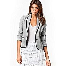 019eb559696 Plus Size 6XL Female Formal Jacket Women Suit Office Wear To Work-gray