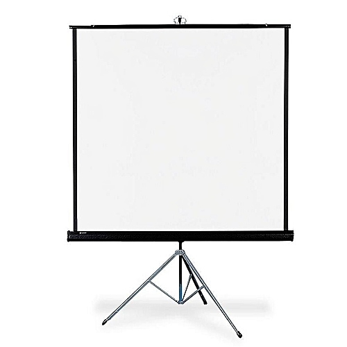 """Projector Screen 72"""" X 72"""" With Tripod Stand"""