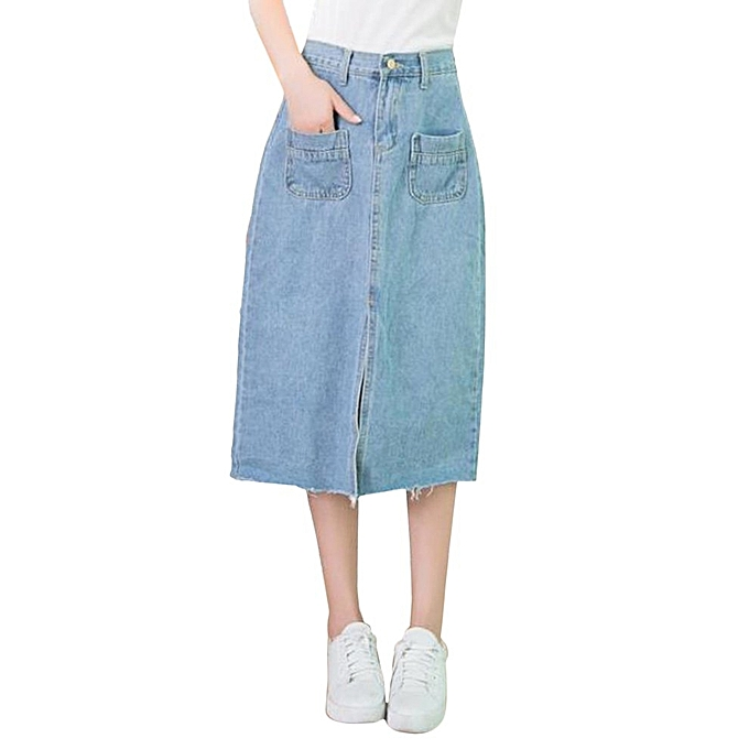 e92b7ab10639 Spring Fashionable Women Summer Style Long Denim Skirts Elegant Long Skirt
