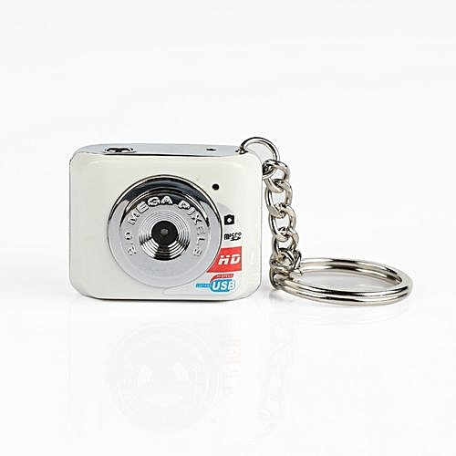 DOITOP Mini HD Camera Ultra Portable Keychain Camera X3 Video Recorder Digital Small Camera DV 480P DV DVR Driving Recorder-White