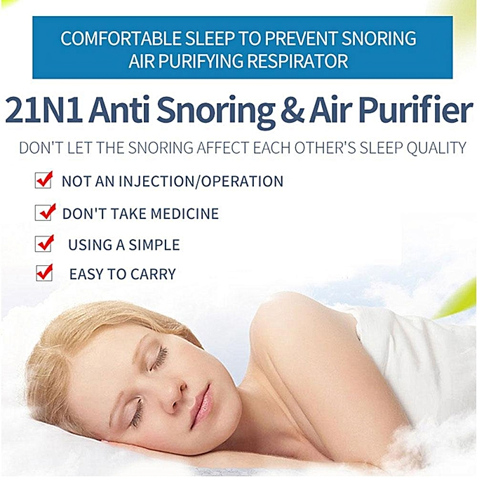 Silicone Anti Snoring Easy Sleeping Breath Aid Relieve Nose Clip Air Purifier 3 .