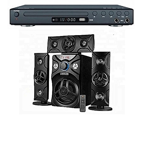 3.1 Powerful Home Theatre System With Bluetooth & Dvd Player