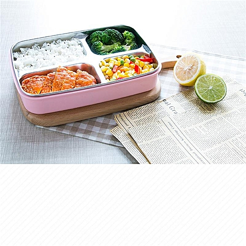 Stainless Steel 4 Section Bento Lunch Box Leakproof School Picnic Food Container Lunchbox