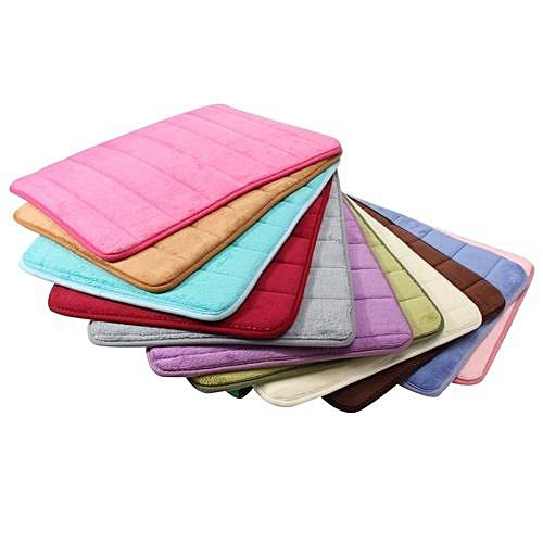 Memory Foam Mat Absorbent Slip-resistant Pad Bathroom Shower Bath Mats Dark Blue