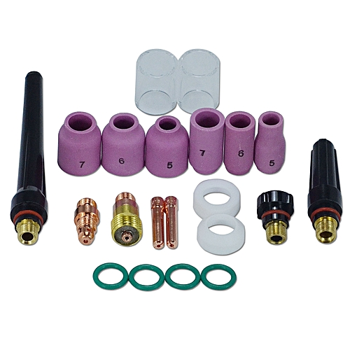 TIG Nozzle Kit Fit WP 17 18 26 TIG Welding Torch 21pk