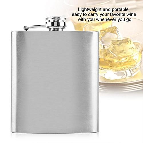 Stainless Steel Flask Pocket Bottle For Whiskey Liquor Wine Alcohol(7oz)