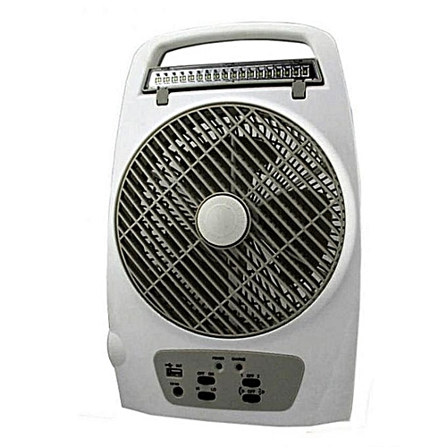 Lontor 8'' Rechargable Table Fan With Lamp & USB Multi-Functional