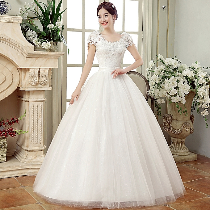 Wedding Dresses White Romantic Gown Fashionable Bride
