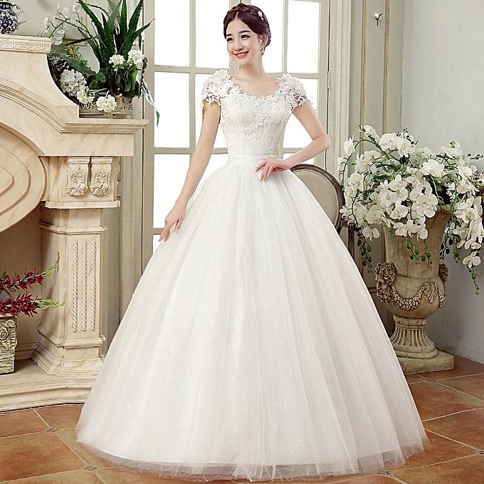 Buy Vfocs Wedding Dresses White Romantic Wedding Gown Fashionable ...