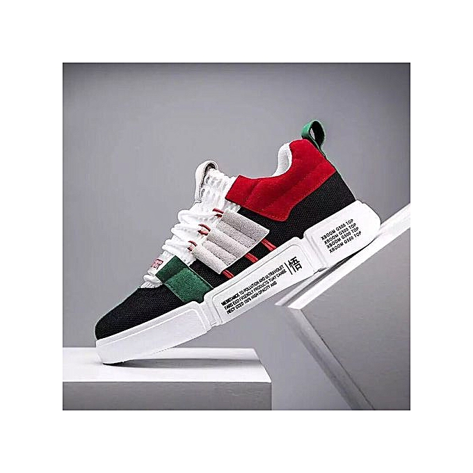 a7bd24f1f700 Fashion Unisex Multi Coloured Smart Sneakers - Black And Red