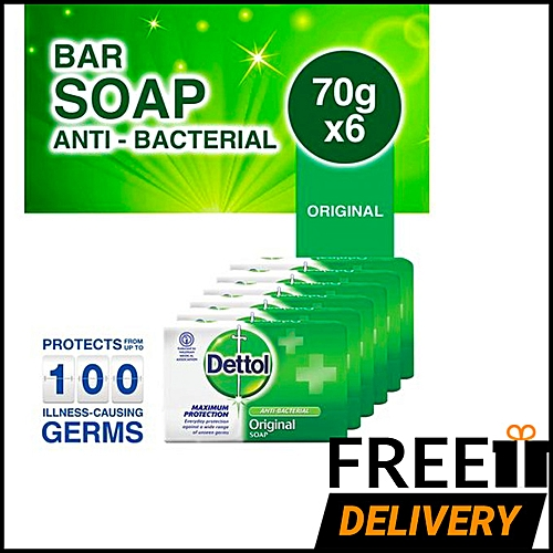 Anti-bacterial Soap 70g -Pack Of 6