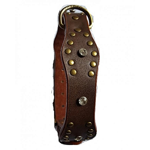 Studded Quality Leather Collar