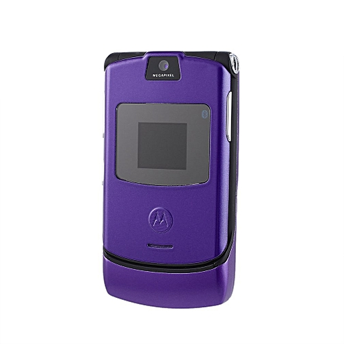 Motorola Razr V3 GSM International Mobile Phone Refurbished Phone Purple Russian Version