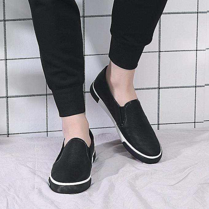 e8574242523782 Longo Flat Car Driving Men's Loafers Slip-Ons Shoes-Black | Jumia NG