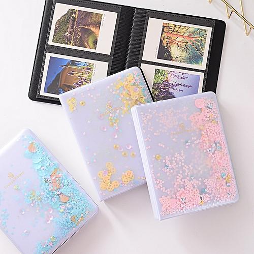 64 Pockets 3 Inch Mini Film Photo Book Album Quicksand Beads For Fujifilm Instax Mini 9 8 7s 90 70 25 Camera Album