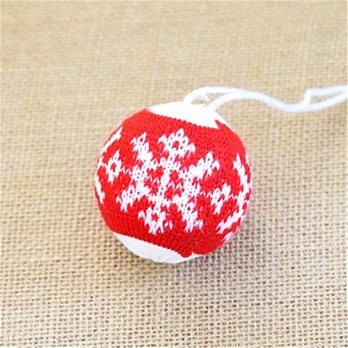 6CM Snowflakes Shape Ball Christmas Tree Ornament Hanging Pendant Decoration Wannag
