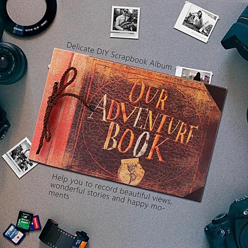 Vintage Style DIY Tied Rope Album Unique Beautiful Memories Wedding Book Scrapbook 40 Pages