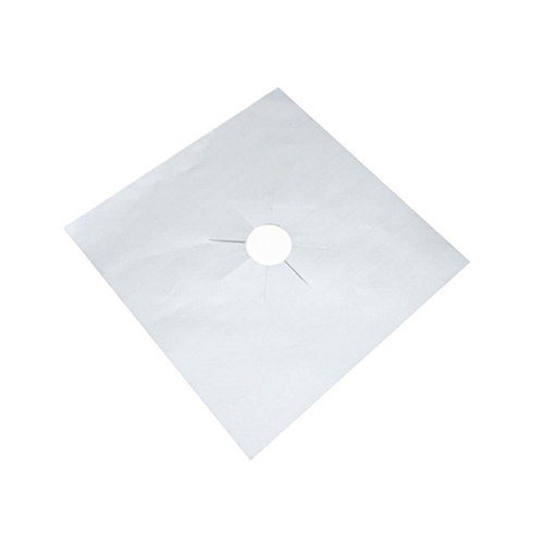 1Pc Reusable Range Covers Stove Protector Non Stick Pad Cooker Cleaning Mat Sheet(Silver)