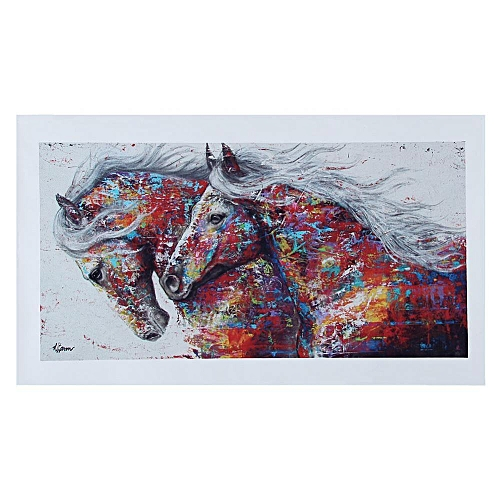 Mordern Canvas Painting Printed Picture Wall Art For Home Office Decor (30*60cm Colorful Horse)