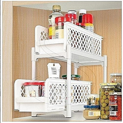 Portable 2 Tier Basket Drawers For Kitchen, Office