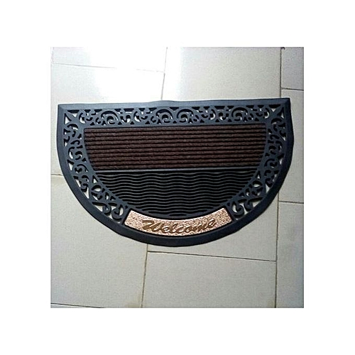 Half Moon Shaped Rubber Door Mat