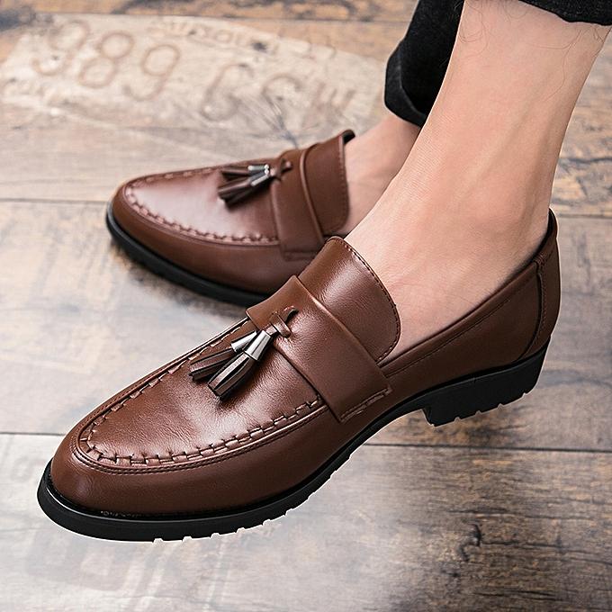 d723dfde0fda FLANGESIO Mens Tassel Shoes Leather Italian Formal Dress Office ...