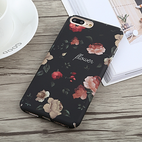 Peony Pattern Oil Painting Style PC Case For IPhone 8 Plus & 7 Plus