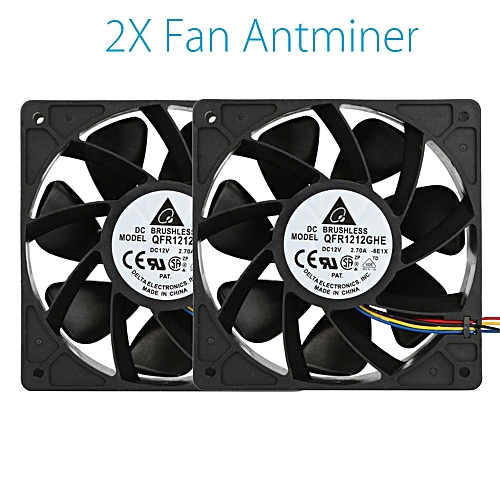 Muliawu Store 2x 6000RPM Cooling Fan Replacement 4-pin Connector For Antminer Bitmain S7 S9-Black