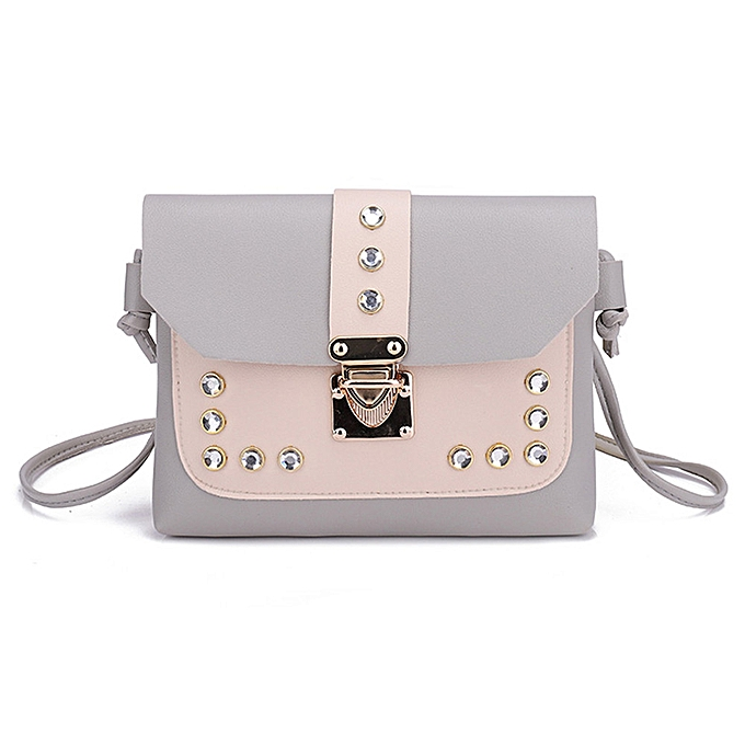 Concana Shop Women Hit Color Rhinestone Shoulder Bag Messenger Satchel Tote  Crossbody Bag e7d24230f998