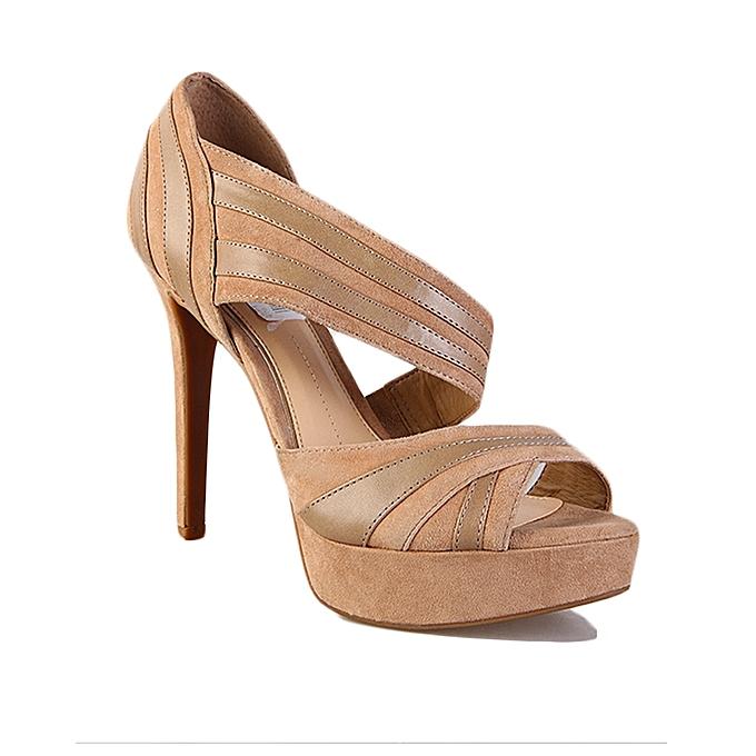 1861d019b4a Ladies Heeled Sandal - Brown