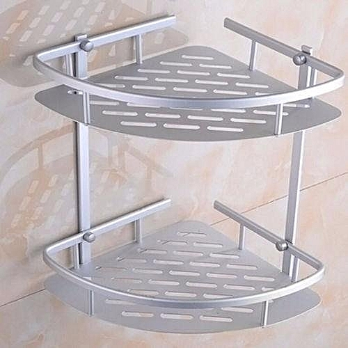 Triangular Shower Caddy Shelf Bathroom Wall Corner Rack Storage Organizer Holder