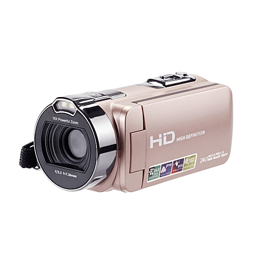 HDV-312P Multi-function Video Camera 24MP Night Vision Camera Wi-Fi 2.7-inch LCD Screen Digital HD Camera Camcorder US Plug KANWORLD