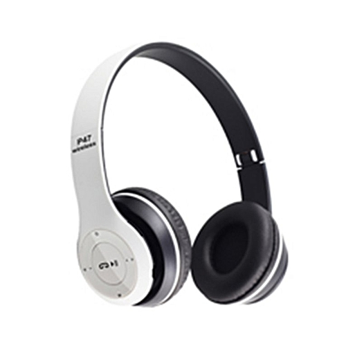 Bluetooth 4.2 EDR Headset Outdoor Sports Headphone Card Wireless Subwoofer White