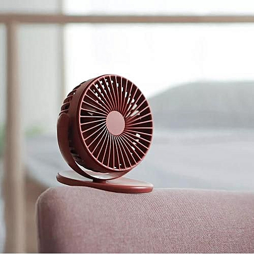 360 Degree Rotating Clip-on Fan - Blood Red