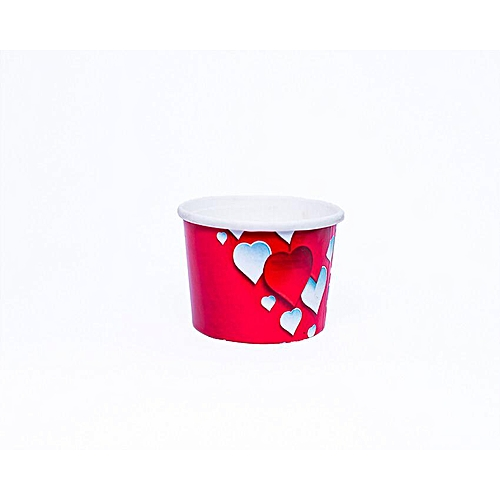 40pcs ×Red Heart Baking Cup, Cupcake, Muffin, Ice Cream Papercups