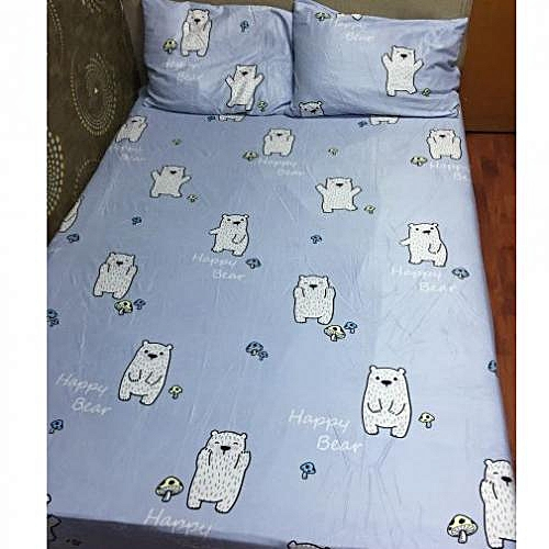 Blue Happy Bear Bedsheet