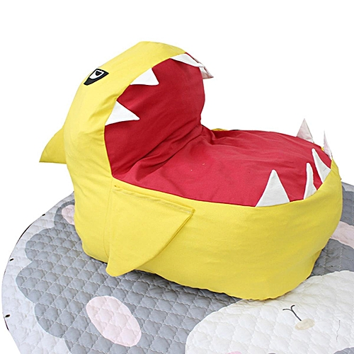 Children Shark Bean Bag Lazy Sofa Kid Baby Gaming Chair With Side Arm Pocket Water Resistant Shark Bean Chair Ideal Gaming Chair For Indoor Outdoor Use