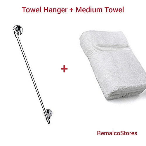 Towel Hanger + Towel ( Product Design May Vary)