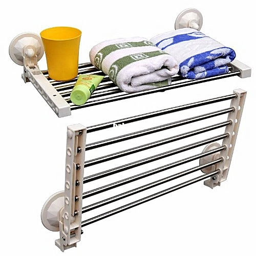 Multi-Function Folding Wall Rack With Suction Cups