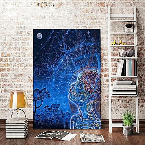 24 X 36 Inch Moon Alex Grey Psychedelic Trippy Art Silk Poster Wall Decor New