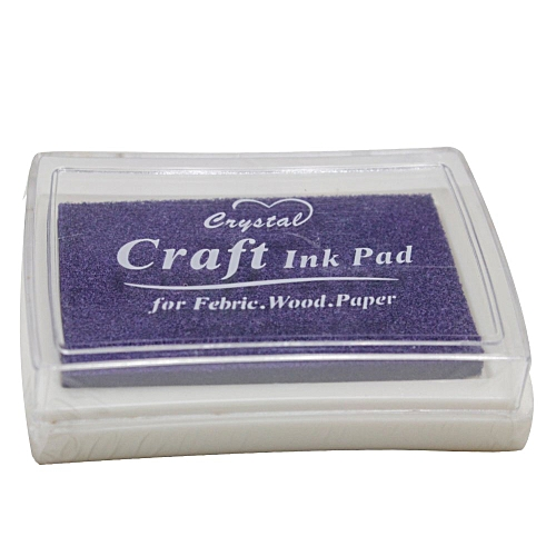 DIY Rubber Stamps Craft Ink Pad For Paper Scrapbook Wood Books Decor (Purple)
