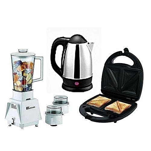 3in1 (Blender + Electric Kettle + Toaster)