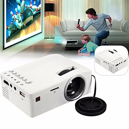 Portable LCD LED Projector HD 1080P Home Theater Multimedia TV AV USB TF HDMI