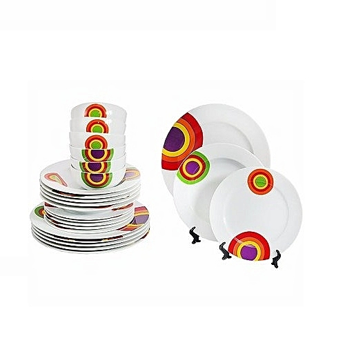 Porland Premium 24 Piece Dinner Plate Set - Circle
