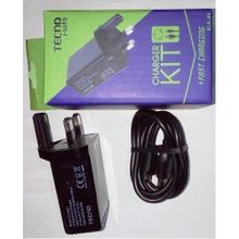 Travel USB Charger For Tecno Phones And Accessories - Black