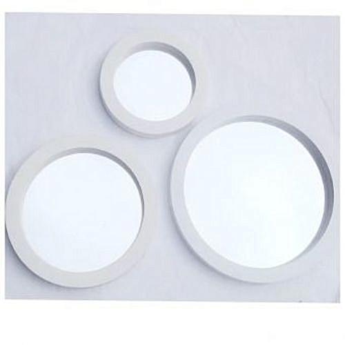 White 3-Piece Round Decorative Wall Mirror
